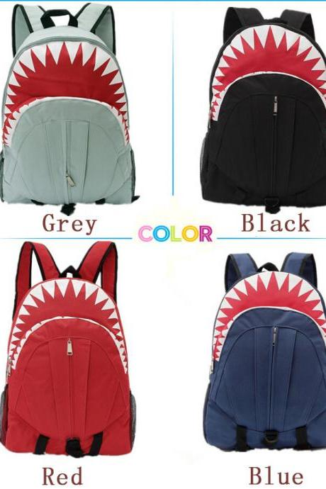 Students Bulk Comfort Boy's Travel Bags Shark Cute Backpack