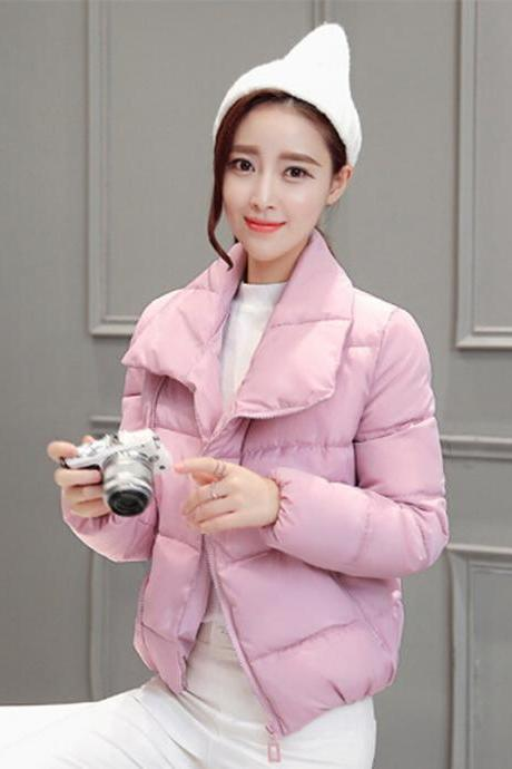 Women's Slim Korean Cotton Short Jacket Coat