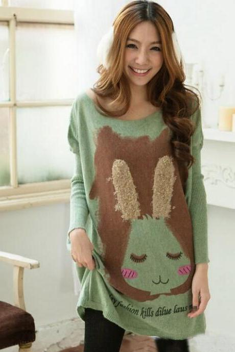 Lovely Rabbit Loose Plus Size Sweater For Women
